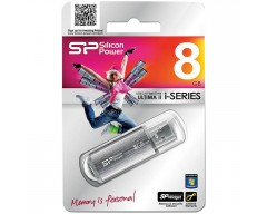 "USB Память ""SiliconPower Flash 8GB USB2.0 Ultima II Silver"""