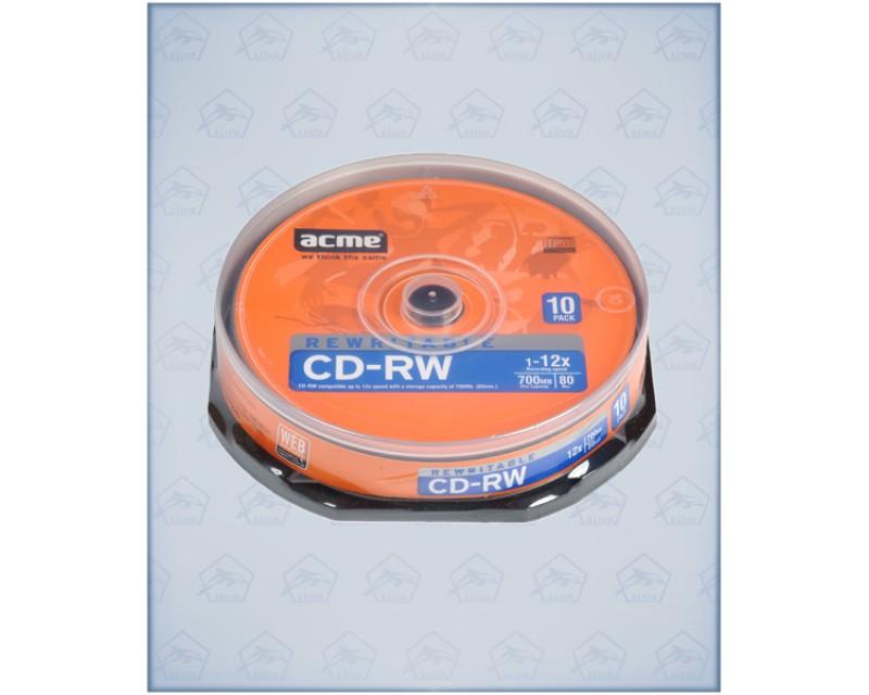 "Диск CD-RW ""Acme Slim"" 4-12х"